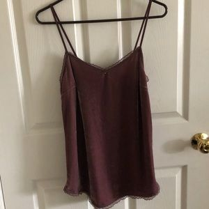 Purple/Pink Velvet Tank Top Size XS